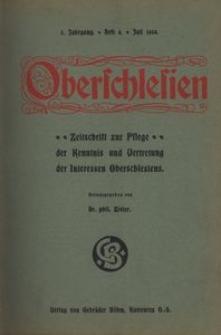 Oberschlesien, 1904, Jg. 3, H. 4