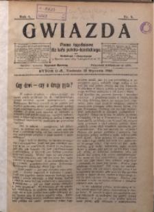 Gwiazda. Pismo Tygodniowe dla Ludu Polsko-Katolickiego, 1906, R. 4, Nr. 4