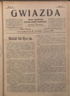 Gwiazda. Pismo Tygodniowe dla Ludu Polsko-Katolickiego, 1906, R. 4, Nr. 5