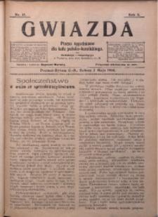 Gwiazda. Pismo Tygodniowe dla Ludu Polsko-Katolickiego, 1906, R. 4, Nr. 18