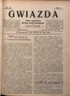 Gwiazda. Pismo Tygodniowe dla Ludu Polsko-Katolickiego, 1906, R. 4, Nr. 21