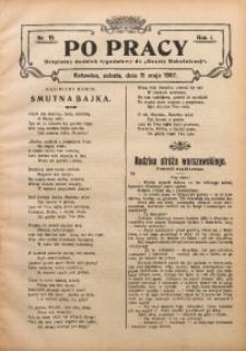 Po Pracy, 1907, R. 1, Nr. 19