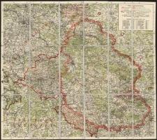 Karte der abgetretenen Gebiete Schlesiens (mapa)