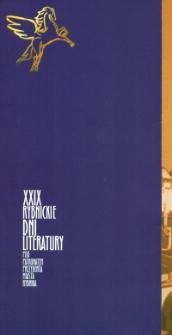 XXIX Rybnickie Dni Literatury : [zaproszenie : L. Mazan]