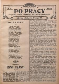 Po Pracy, 1910, R. 4, Nr. 6