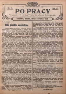 Po Pracy, 1910, R. 4, Nr. 14
