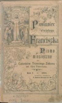 Posłaniec Świętego Franciszka. Pismo Miesięczna dla Członków Trzeciego Zakonu św. Ojca Franciszka