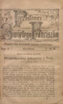 Posłaniec Świętego Franciszka, 1904, R. 2, no 12