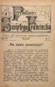 Posłaniec Świętego Franciszka, 1906, R. 4, no 1