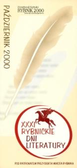 XXXI Rybnickie Dni Literatury : październik 2000