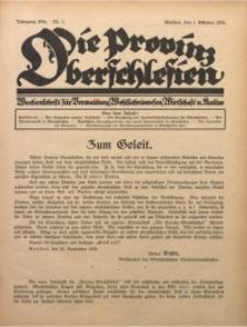 Die Provinz Oberschlesien, 1926, Jg. 1, Nr. 1