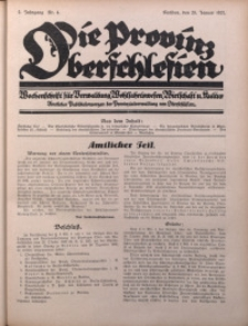 Die Provinz Oberschlesien, 1927, Jg. 2, Nr. 4