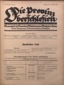 Die Provinz Oberschlesien, 1927, Jg. 2, Nr. 19