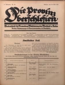 Die Provinz Oberschlesien, 1927, Jg. 2, Nr. 20