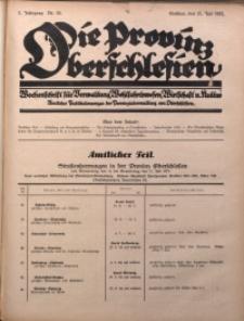 Die Provinz Oberschlesien, 1927, Jg. 2, Nr. 28