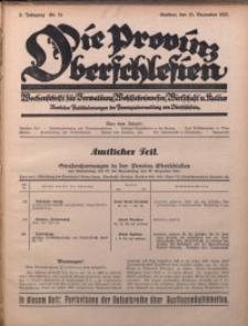 Die Provinz Oberschlesien, 1927, Jg. 2, Nr. 51