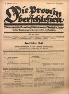 Die Provinz Oberschlesien, 1928, Jg. 3, Nr. 9