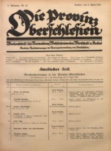 Die Provinz Oberschlesien, 1928, Jg. 3, Nr. 14