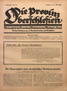 Die Provinz Oberschlesien, 1928, Jg. 3, Nr. 18