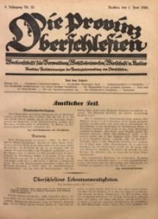 Die Provinz Oberschlesien, 1928, Jg. 3, Nr. 22