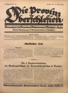 Die Provinz Oberschlesien, 1928, Jg. 3, Nr. 28
