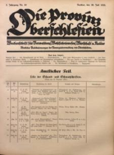 Die Provinz Oberschlesien, 1928, Jg. 3, Nr. 29