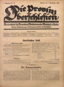 Die Provinz Oberschlesien, 1928, Jg. 3, Nr. 36