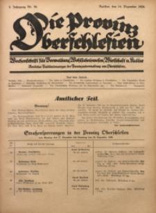 Die Provinz Oberschlesien, 1928, Jg. 3, Nr. 50