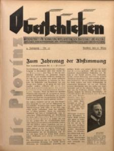 Die Provinz Oberschlesien, 1929, Jg. 4, Nr. 11