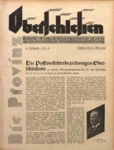 Die Provinz Oberschlesien, 1929, Jg. 4, Nr. 20