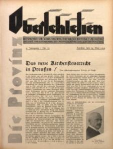 Die Provinz Oberschlesien, 1929, Jg. 4, Nr. 21