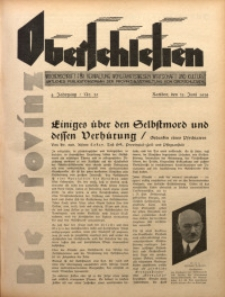 Die Provinz Oberschlesien, 1929, Jg. 4, Nr. 25