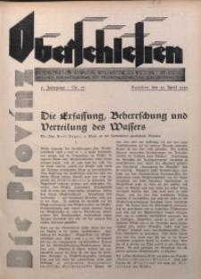 Die Provinz Oberschlesien, 1930, Jg. 5, Nr. 17