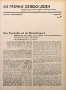 Die Provinz Oberschlesien, 1932, Jg. 7, Nr. 9