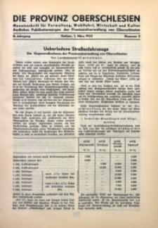 Die Provinz Oberschlesien, 1933, Jg. 8, Nr. 3