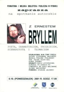 Afisz. Spotkanie z Ernestem Bryllem