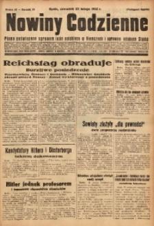 Nowiny Codzienne, 1932, R. 22, nr 45
