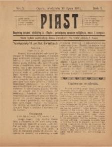 Piast, 1911, R. 1, Nr. 3