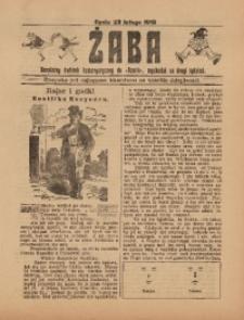 Żaba, R. 3, 23 lutego 1913
