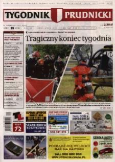 Tygodnik Prudnicki : prywatna gazeta lokalna gmin : Prudnik, Biała, Głogówek, Korfantów, Lubrza, Strzeleczki, Walce. R. 25, nr 39 (1291).