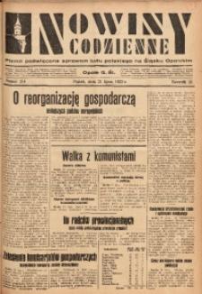 Nowiny Codzienne, 1933, R. 23, nr 154