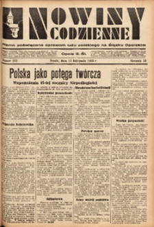 Nowiny Codzienne, 1933, R. 23, nr 252