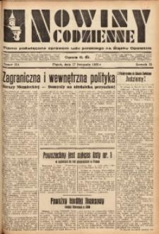 Nowiny Codzienne, 1933, R. 23, nr 254