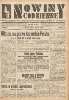 Nowiny Codzienne, 1934, R. 24, nr 37