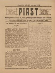 Piast, 27 czerwca 1915