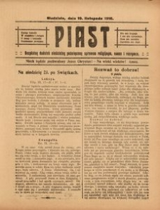 Piast, 19 listopada 1916