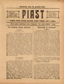 Piast, 10 grudnia 1916