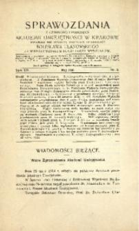 Sprawozdania z Czynności i Posiedzeń Akademii Umiejętności w Krakowie, 1914, T. 19, Nr 5