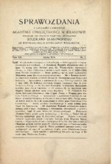 Sprawozdania z Czynności i Posiedzeń Akademii Umiejętności w Krakowie, 1916, T. 21, Nr 7