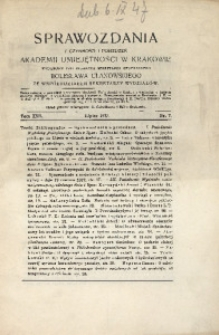 Sprawozdania z Czynności i Posiedzeń Akademii Umiejętności w Krakowie, 1917, T. 22, Nr 7